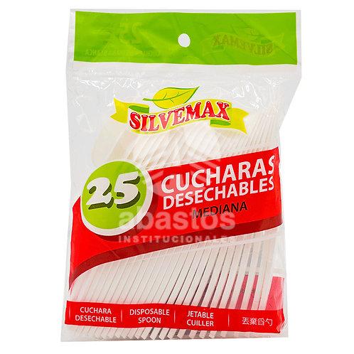 Cucharas Empacadas 25 ud Silvemax