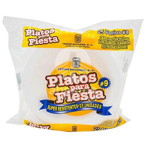 Plato Foam #9 25 ud Termo Envases