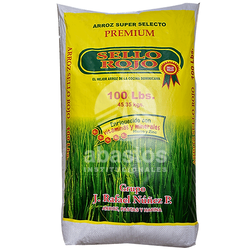 Arroz Selecto 100 lb Sello Rojo