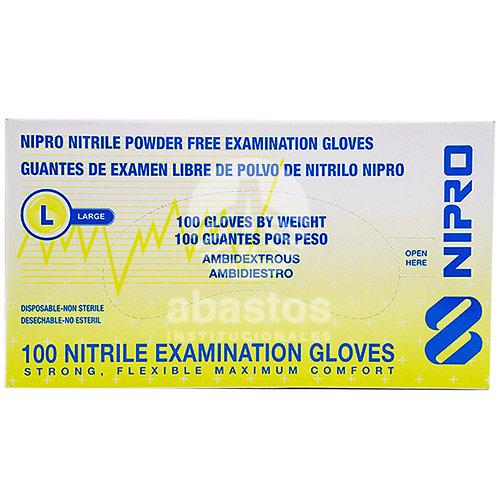 Guantes de Nitrilo Azul S/polvo 100 ud Generica
