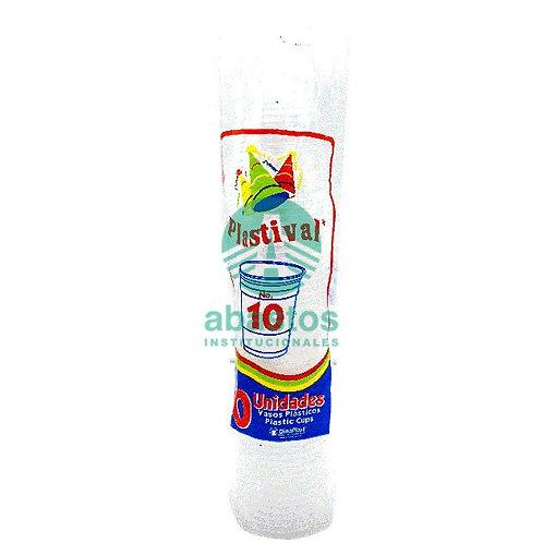 Vasos Clear (pp) 10 oz 50 ud Generica