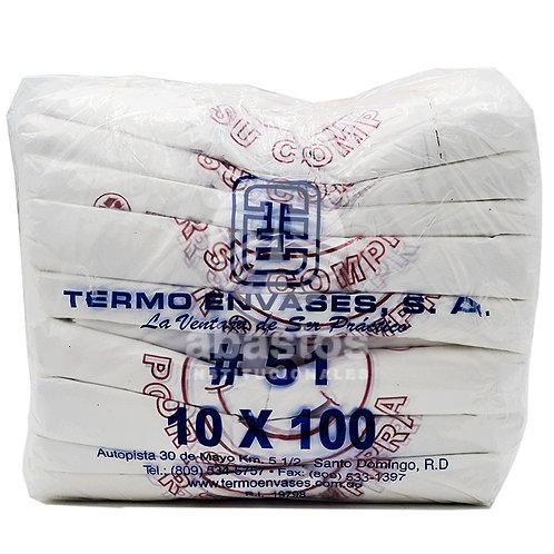 Fundas T-shirt Gracias #51 100 ud Termo Envases