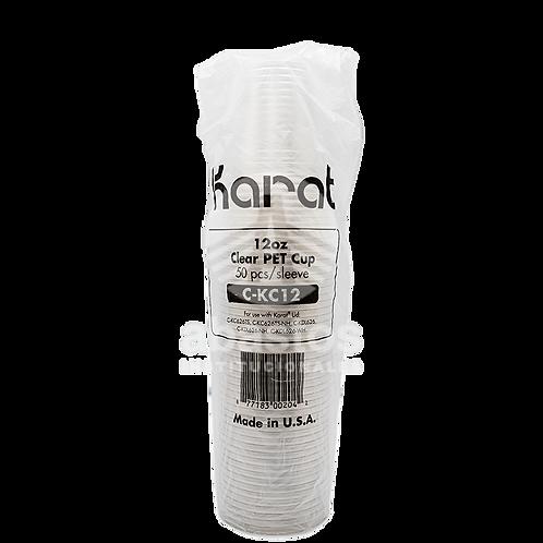 Vasos Clear (pet) 12 oz 50 ud Karat