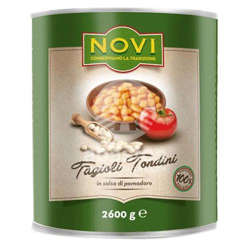 Habichuelas Blancas En Salsa de Tomate 2600 gr Novi