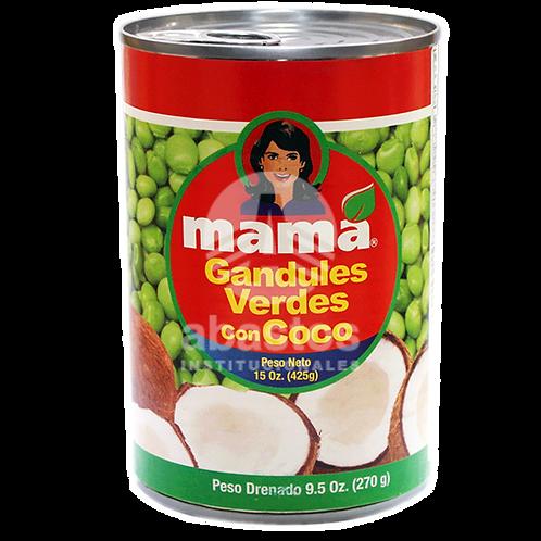 Guandules Con Coco 15 oz Mama