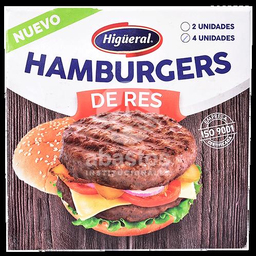 Hamburguesa Res Sazonada Paquete 4 Ud/ 4 oz Higueral