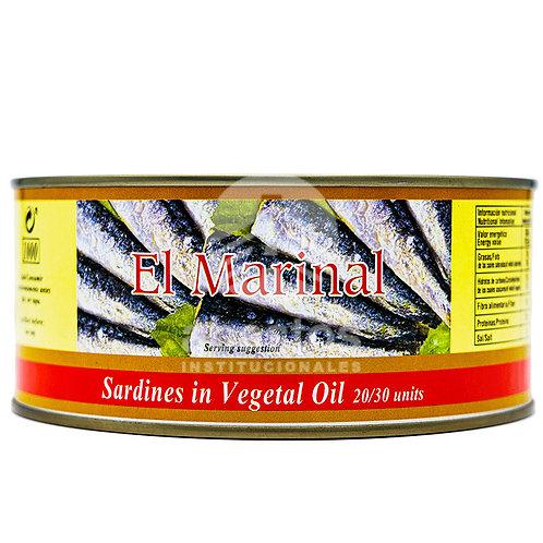 Sardinas En Aceite Vegetal 1 kg El Marinal