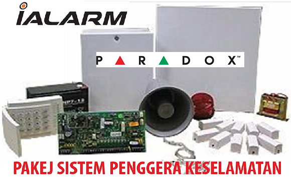 Package Alarm Paradox (8 zone)  with installation