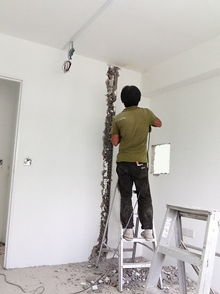 additional hacking wall works per meter
