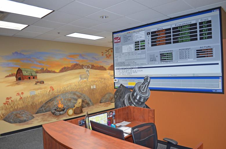 Solors Optional Axis Lobby Mural - Elk River, MN