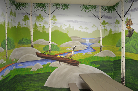 Millz House Party Room Mural - Apple Valley, MN