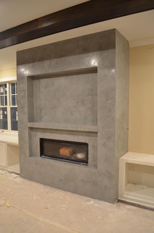 Venetian Plaster Polished Fireplace Edin