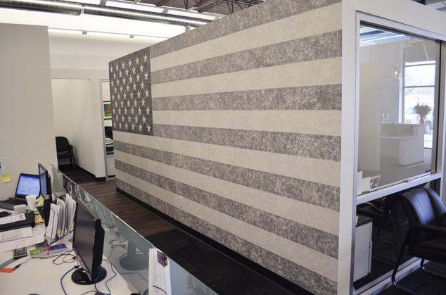 US Flag Mural Refined Lending - Blaine, MN