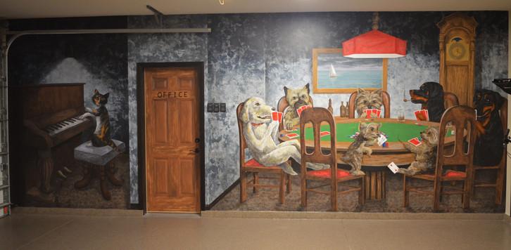 Dogs Playing Poker Mural Garage 1.jpg