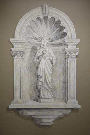 IHM Academy Statue Niche Mural - Oak Grove, MN