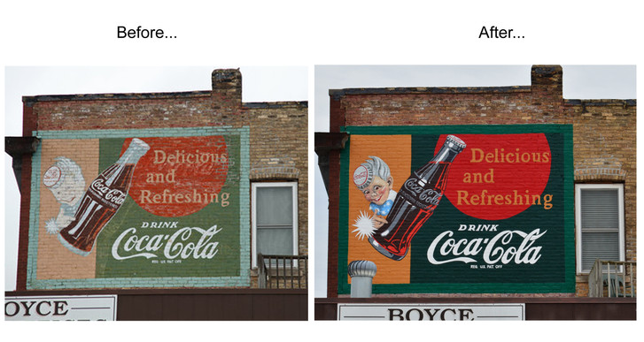 Coca Cola Restoration Mural - North Branch, MN
