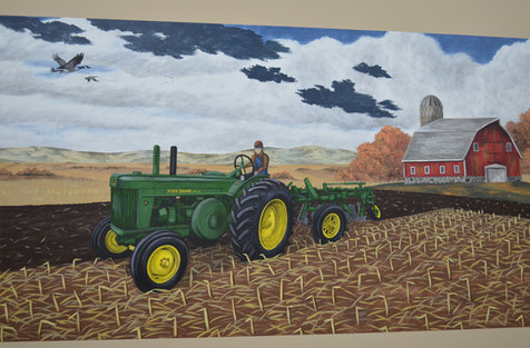 John Deere Mural - Harvey, ND