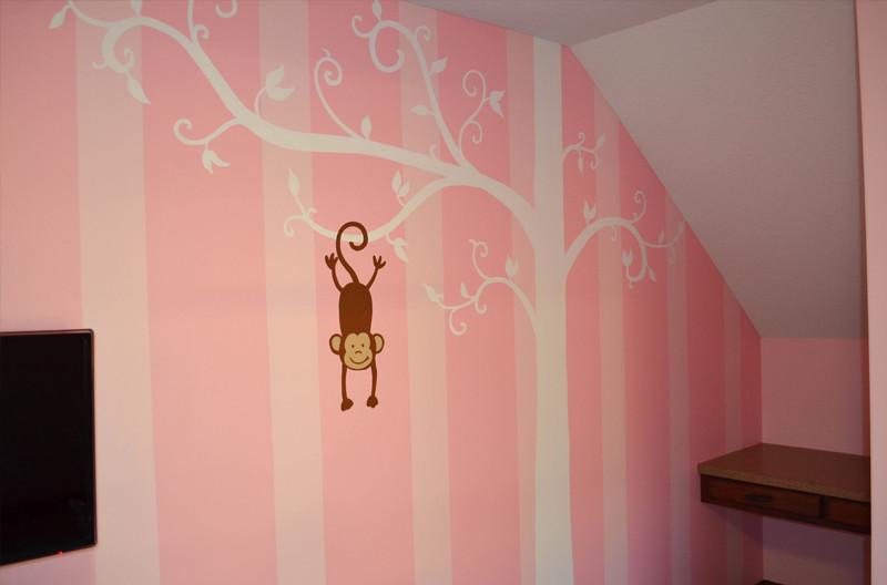 big mural nursery stripes monkey.jpg