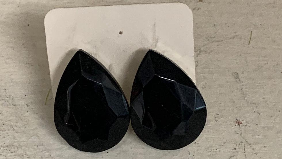 Large Teardrop Clip On Earrings
