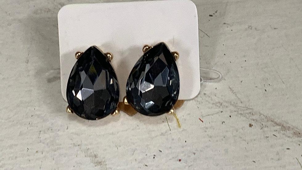 Large Teardrop Stud Earrings
