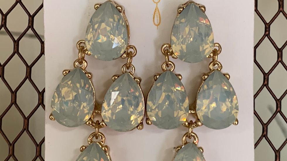 Four Gem Dangle Earrings