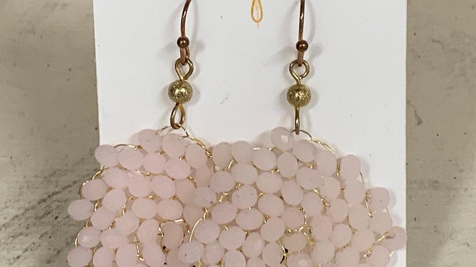 Beaded Spiral Dangle Earrings