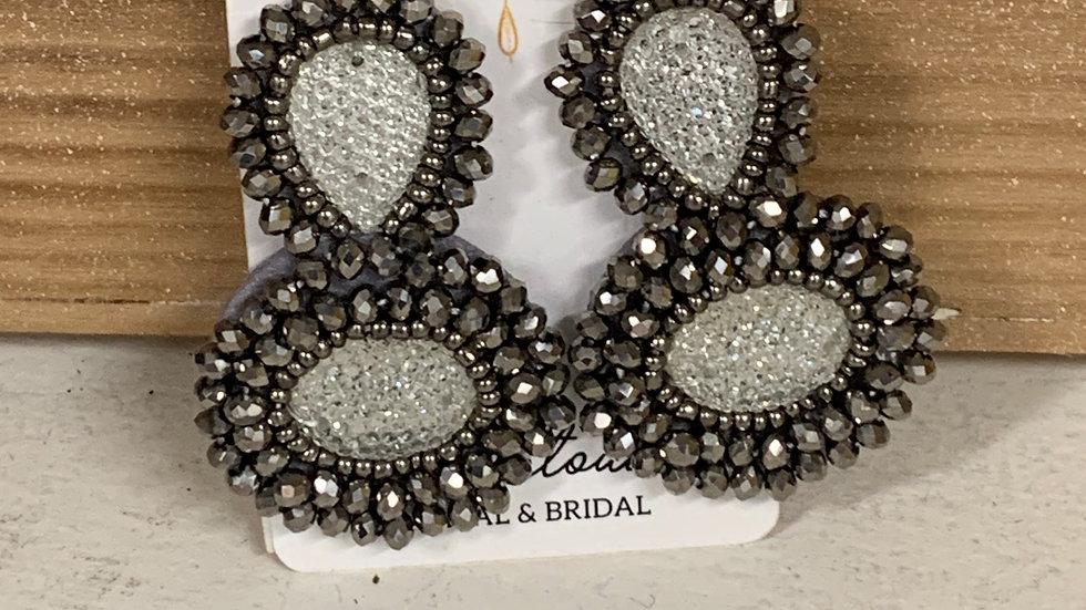 Gunmetal Statement earrings