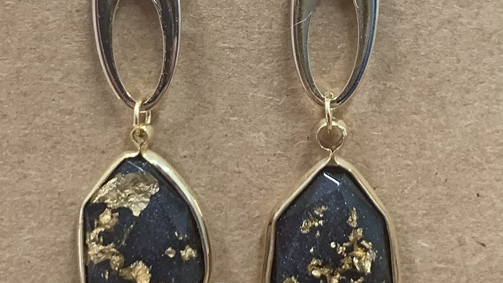 CopFLAKE TEARDROP & OVAL EARRINGS