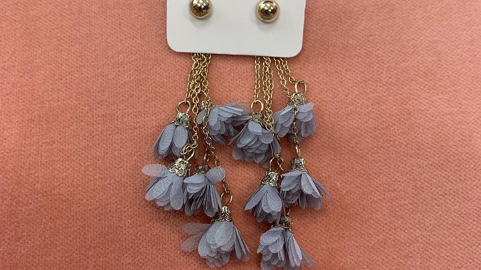 Floral Tassel Dangle Earrings