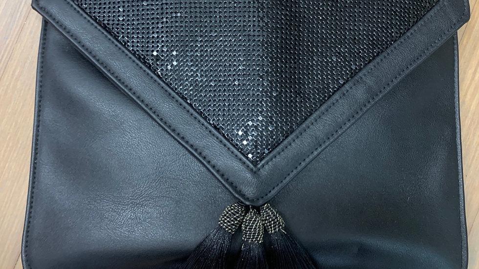 Black Tassel & Chain Clutch