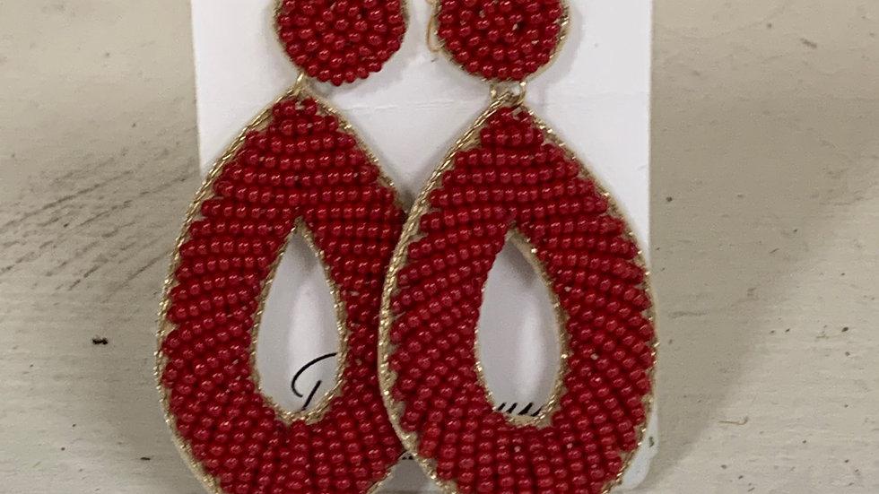 Marquis Beaded Earrings