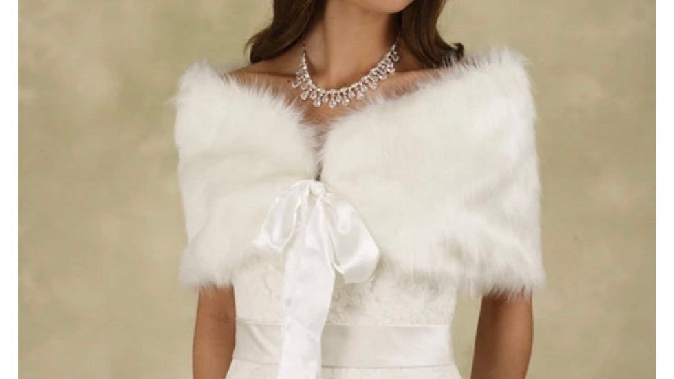 Fur with Satin Bow Tie