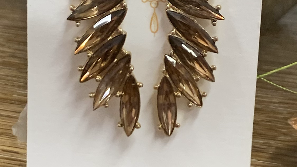 Bronze Wing Earring