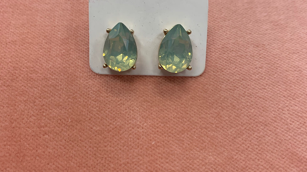 Teardrop Stud Earrings