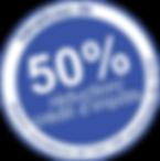 50% de crédit d'impôt