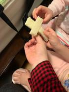 아이들이 만든 십자가빵