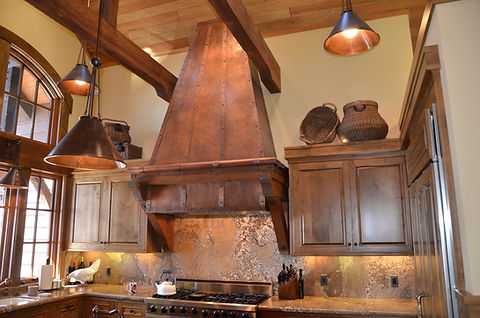 Copper Wall Mount Kitchen Hood