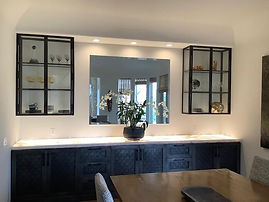 Stainless frame for glass cabinets