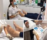 Snaps taken whilst filming foot examinat