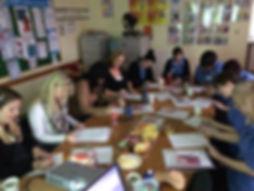 carers attending diabetes awareness training in care home