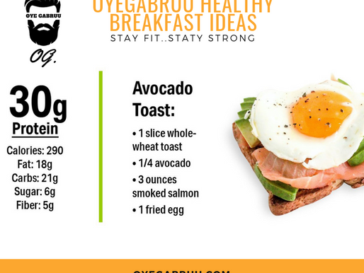 Avacado Tost - Healthy Breakfast Series 1