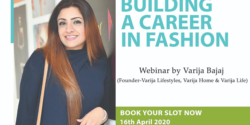 BUILDING A CAREER IN FASHION (Repeat Session)
