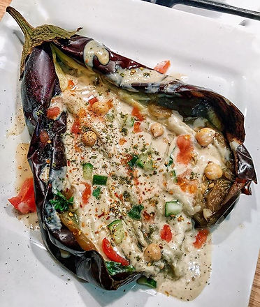 whole ROASTED eggplant 🍆 _The charred s