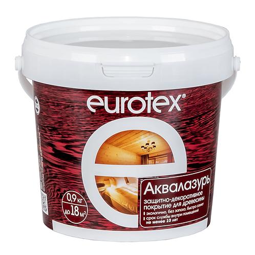 Защитно-декоративное покрытие для древесины EUROTEX АКВАЛАЗУРЬ