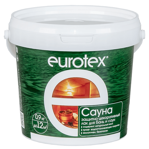 Лак для стен, потолков и полов в банях и саунах EUROTEX