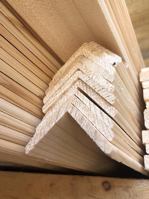 Уголок деревянный 45*45*3000мм