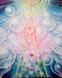 光の絵 H様の守護天使の魂