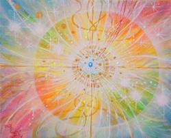 光の絵 M.K様 虹色の調和とパワー