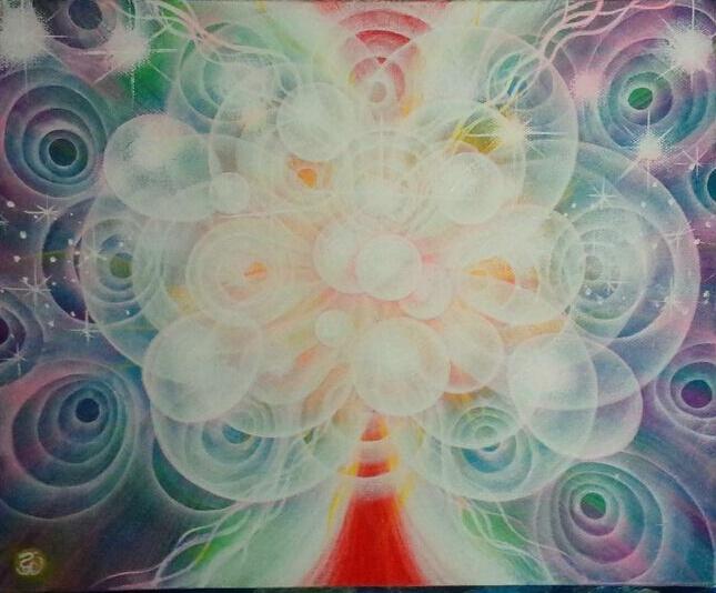 光の絵 沸き上がる純粋な生命力