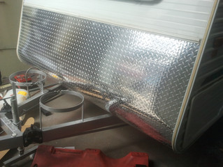 Customised Aluminium Caravan Fronts